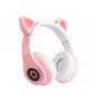 Audífonos Bluetooth Orejas de Gato Rosado