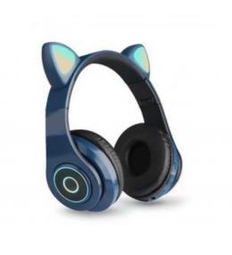 Audífonos Bluetooth Orejas de Gato Azul