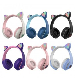 Audífonos Bluetooth Orejas de Gato kd-58m Morado