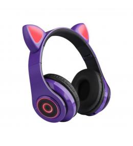 Audífonos Bluetooth Orejas de Gato Púrpura