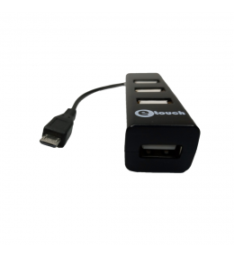 Adataptador OTG Micro USB a 4 Puertos USB 2.0