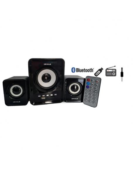 WOOFER Y BOCINAS / BLUETOOTH / FM / CONTROL REMOTO