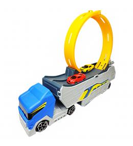 Camión con expulsador de carros